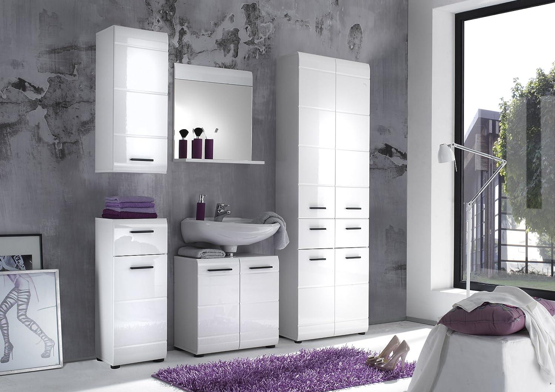 trendteam Badezimmer Schrank Kommode Skin Gloss, 30 x 79 x 31 cm ...