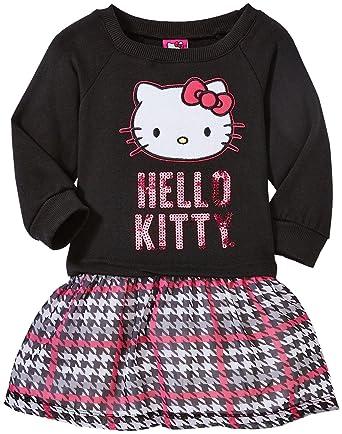 dd002b646 Amazon.com: Hello Kitty Girls' Fleece to Chiffon Dress: Clothing