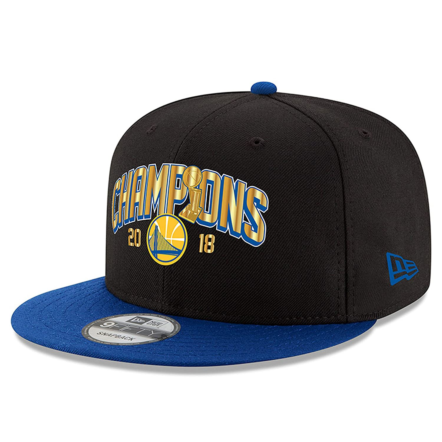 056d36458f0 Amazon.com   Golden State Warriors New Era 2018 NBA Finals Champions Trophy  Two-Tone 9FIFTY Snapback Adjustable Hat Black Royal   Sports   Outdoors