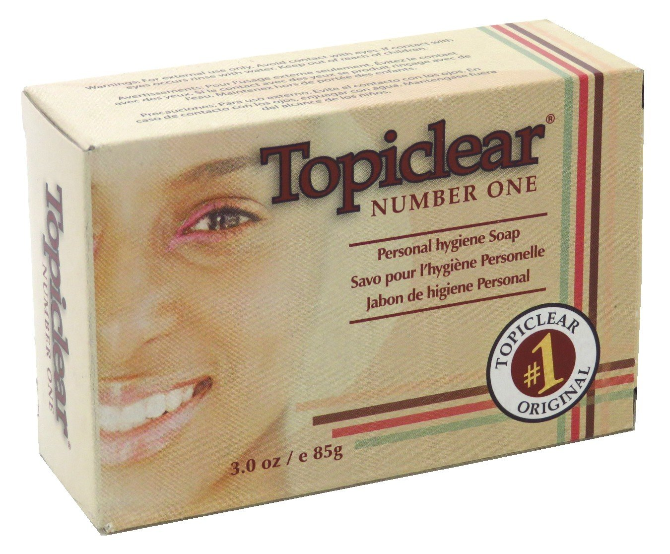 Amazon Com Topiclear Number One Soap 3 Ounce Boxed 88ml 2 Pack