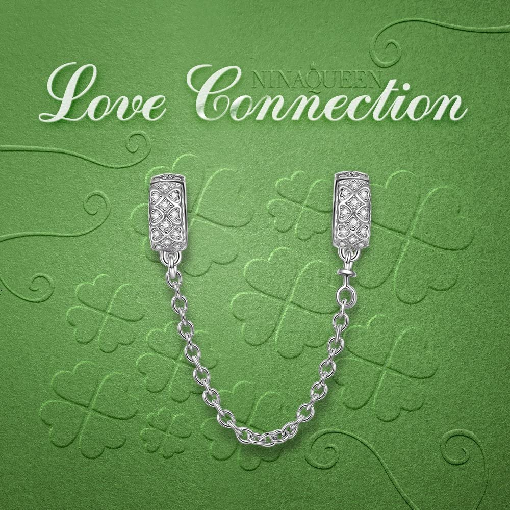 Zircone avec Boite Cadeau NINAQUEEN/® Charm et Perles Espaceurs Organiser des Perles en d/ésordre Argent Sterling 925
