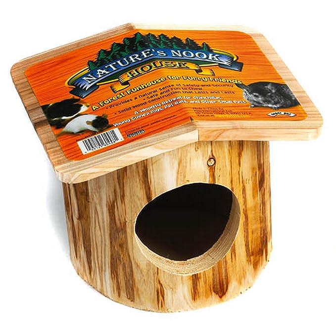 Superpet - Caseta nido de madera natural modelo Natures Nook para mascotas salvajes (Talla Única