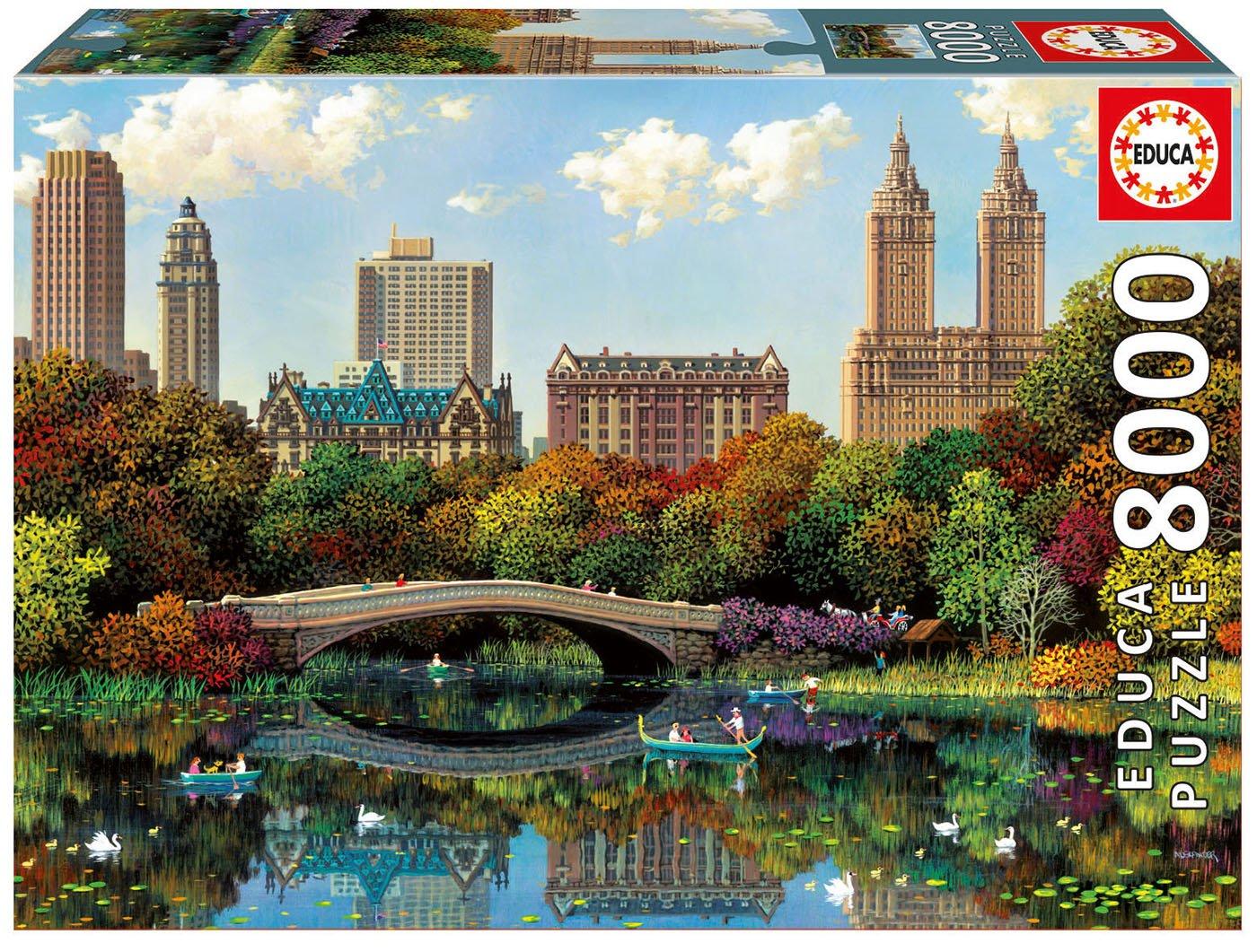 Educa Borrás - 17136.0 - Puzzle - Central Park Bow Vridge - Alexander Chen - 8000 Pièces