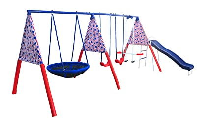 Amazon Com Xdp Recreation Freedom Swing Set Sports Outdoors