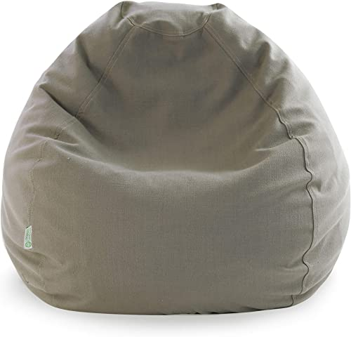 Majestic Home Goods Wales Bean Bag, Small, Gray