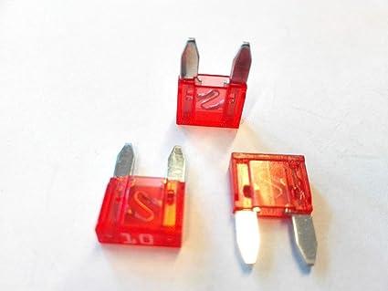 10 X Flachstecksicherung Mini Sicherung 10a 32v Rot Gewerbe Industrie Wissenschaft