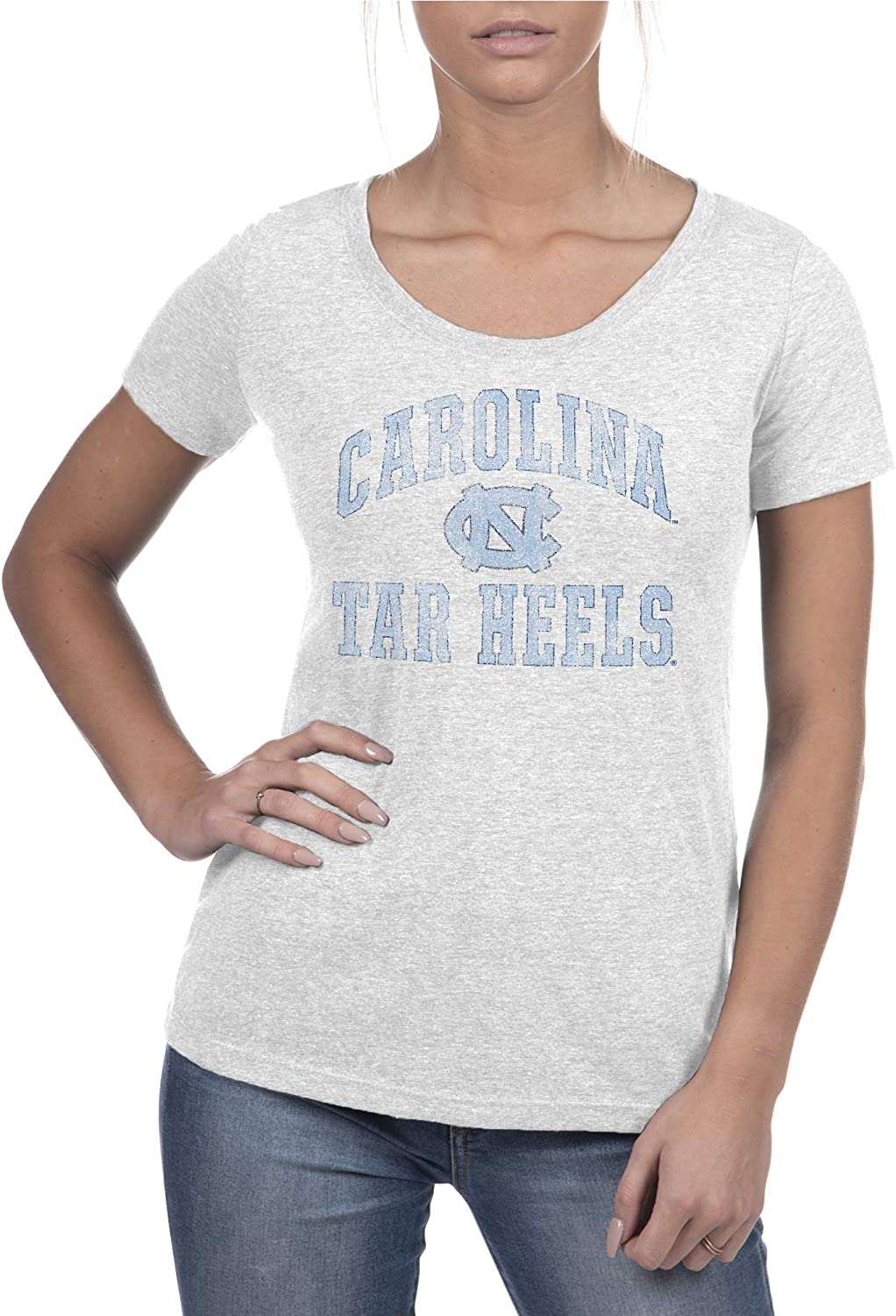 Top of the World NCAA Womens Trim Modern Fit Premium Triblend Short Sleeve Scoop Neck Team Color Tee