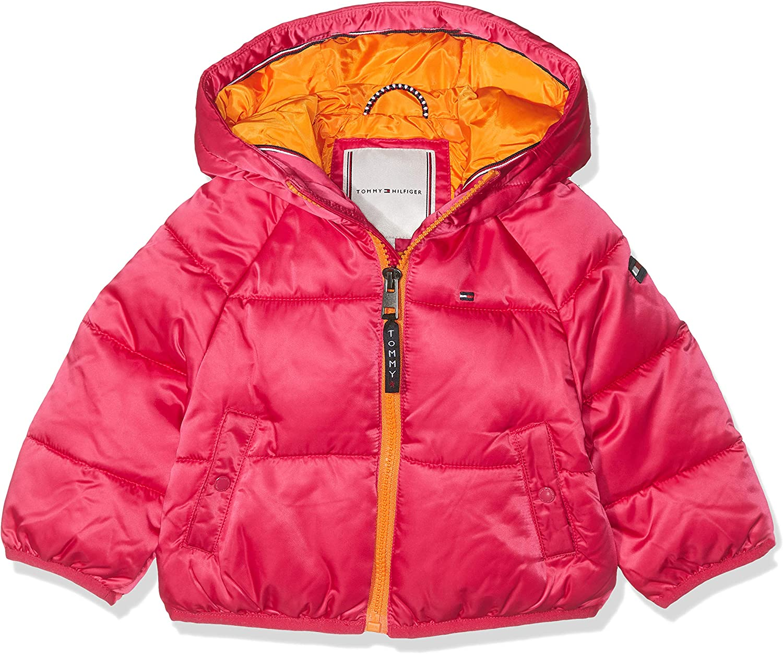 Rot , Herstellergr/ö/ße:86 Virtual Pink 638 TOMMY HILFIGER Baby-M/ädchen Recycled Short Puffer Jacke