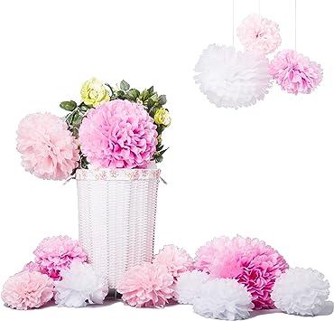 Bliqniq 15 x Pompones Flores de Papel de Seda Para la Decoración ...