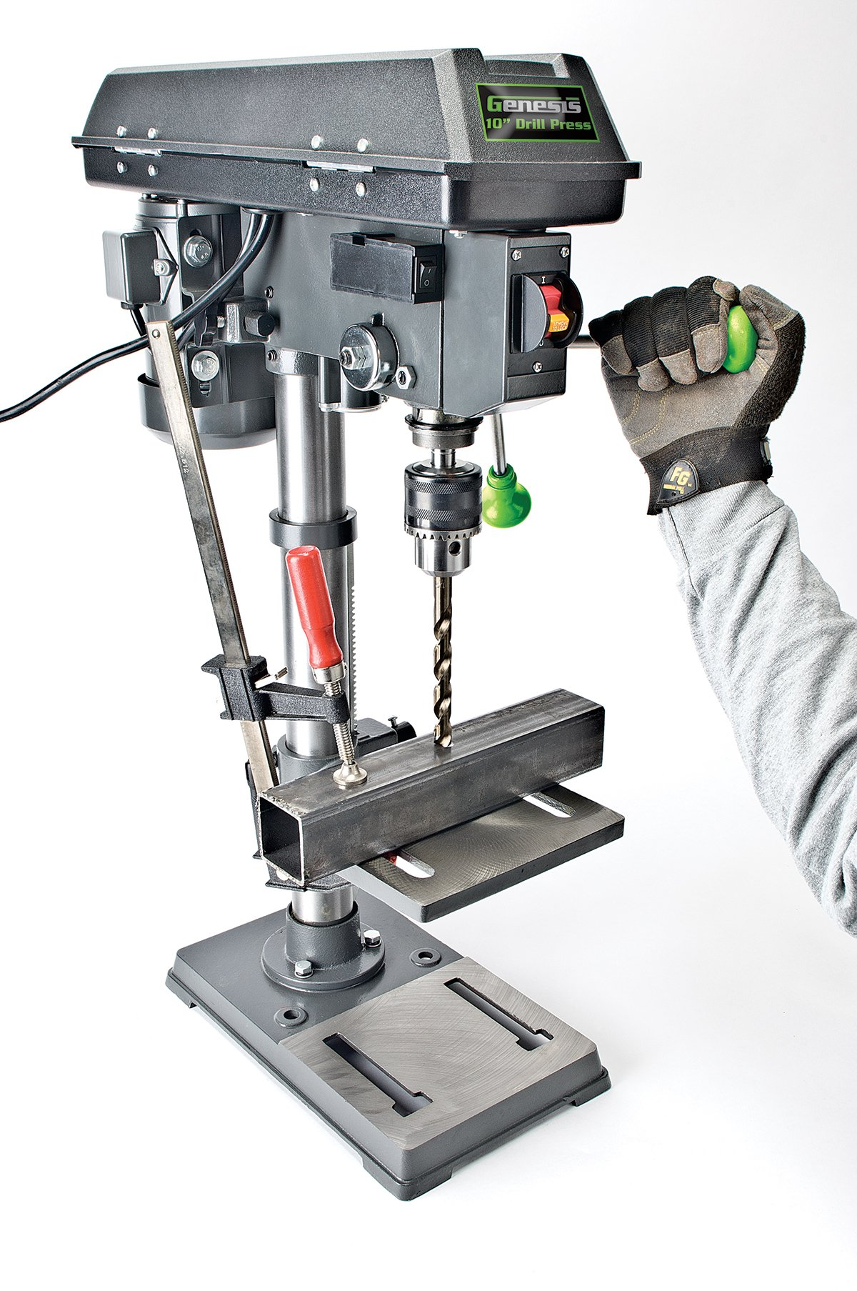 Genesis GDP1005A 10'' 5-Speed 4.1 Amp Drill Press with 5/8'' Chuck, with Integrated work light and Table that Rotates and Tilts by Genesis (Image #3)