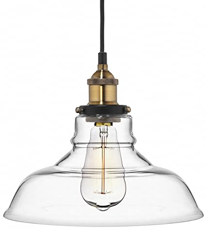 pendant light firstlight medium empire with antique type clear shade ceiling lighting in glass single finish brass