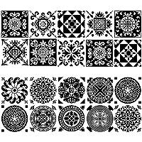 behone 20 piezas Azulejos decorativos adhesivos, Decorativos Adhesivos para Azulejos Pegatina de Pared, resistentes al…