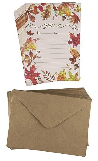 amazon com fall invitation cards 50 pack thanksgiving dinner
