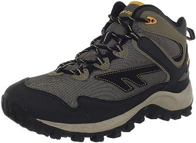 HiTec Mens Raider Mid Waterproof Hiking BootSmokey BrownTaupeGold