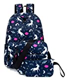 Unicorn Backpack for Girls, Casual Laptop School