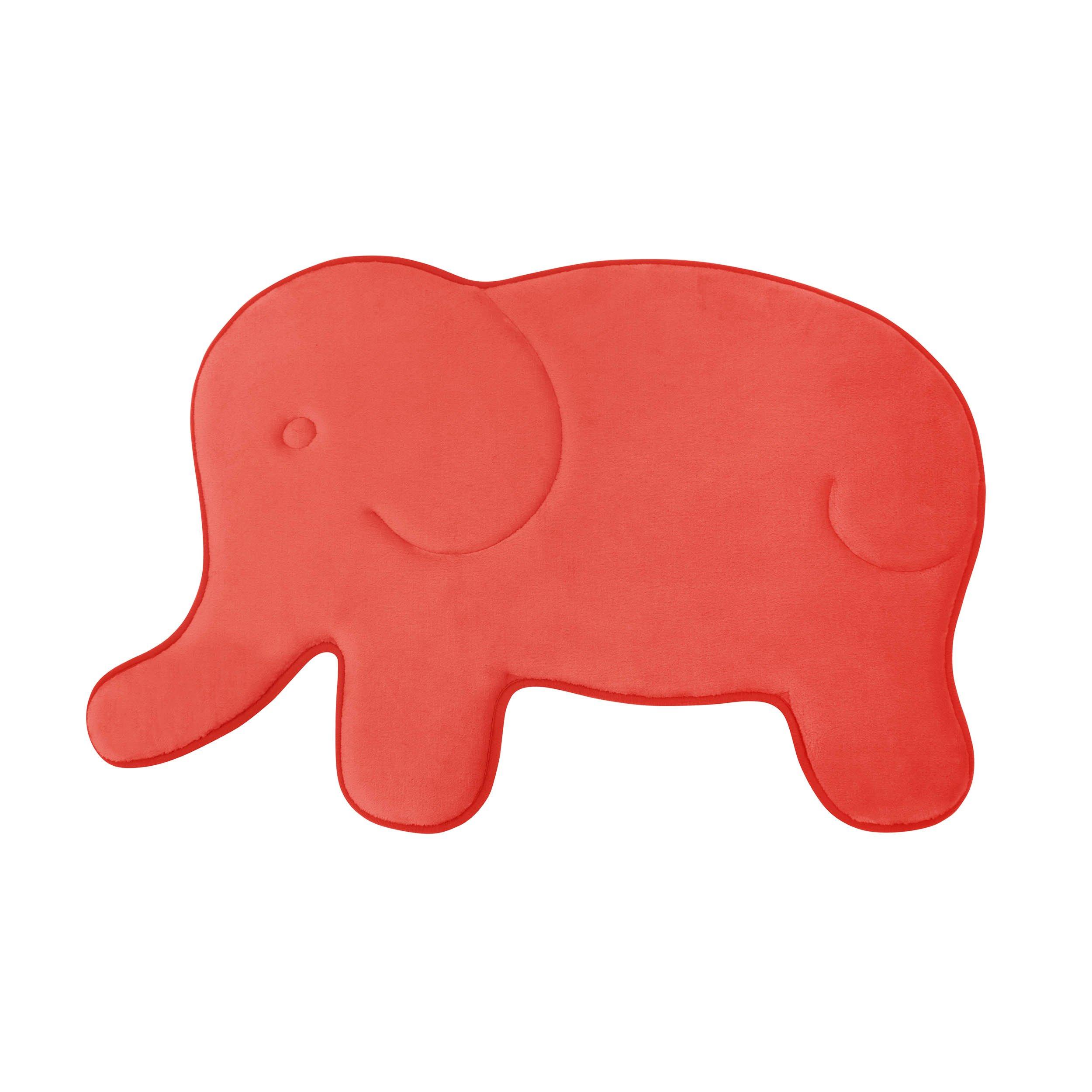Bounce Comfort Memory Foam Elephant 20 x 32'' Bath Mat, Coral