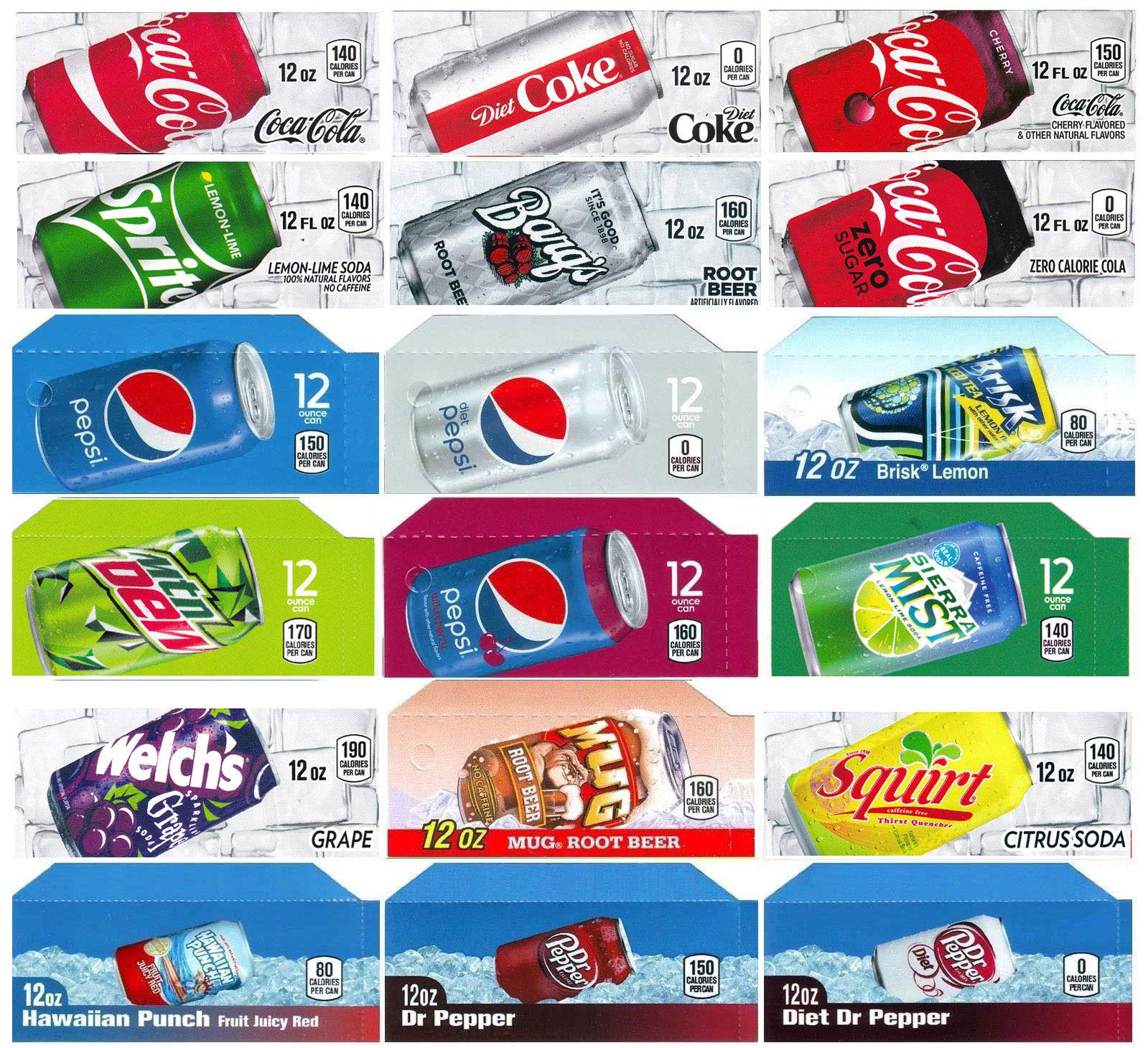 Vending-World - 18x Flavor Strip for 12 oz Cans Soda Pepsi Coke Vending, fits Dixie Narco, Vendo by Vending-World