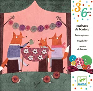 DJECO DJ08947 Create with Buttons- Adventure in The Woods Playset