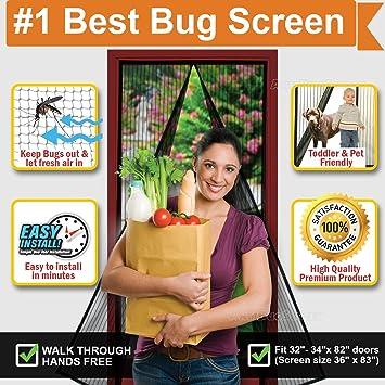 Magnetic Screen Door, Instant U0026 Quick Install Mesh Curtain, Auto Close  Magnets, Pet