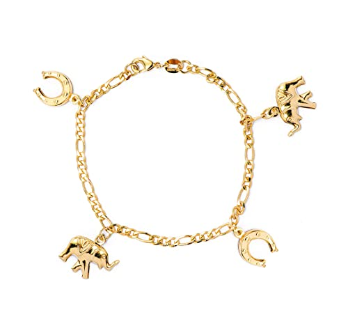 Amazon.com: JEWELRY PARADISE Womens Anklet 14k Gold Filled ...