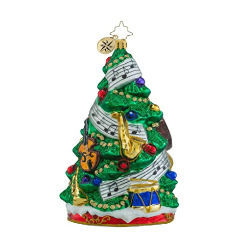 Radko Sounds Of Joy Violin Saxophone Christmas Tree Glass Ornament - Amazon.com: Radko Sounds Of Joy Violin Saxophone Christmas Tree