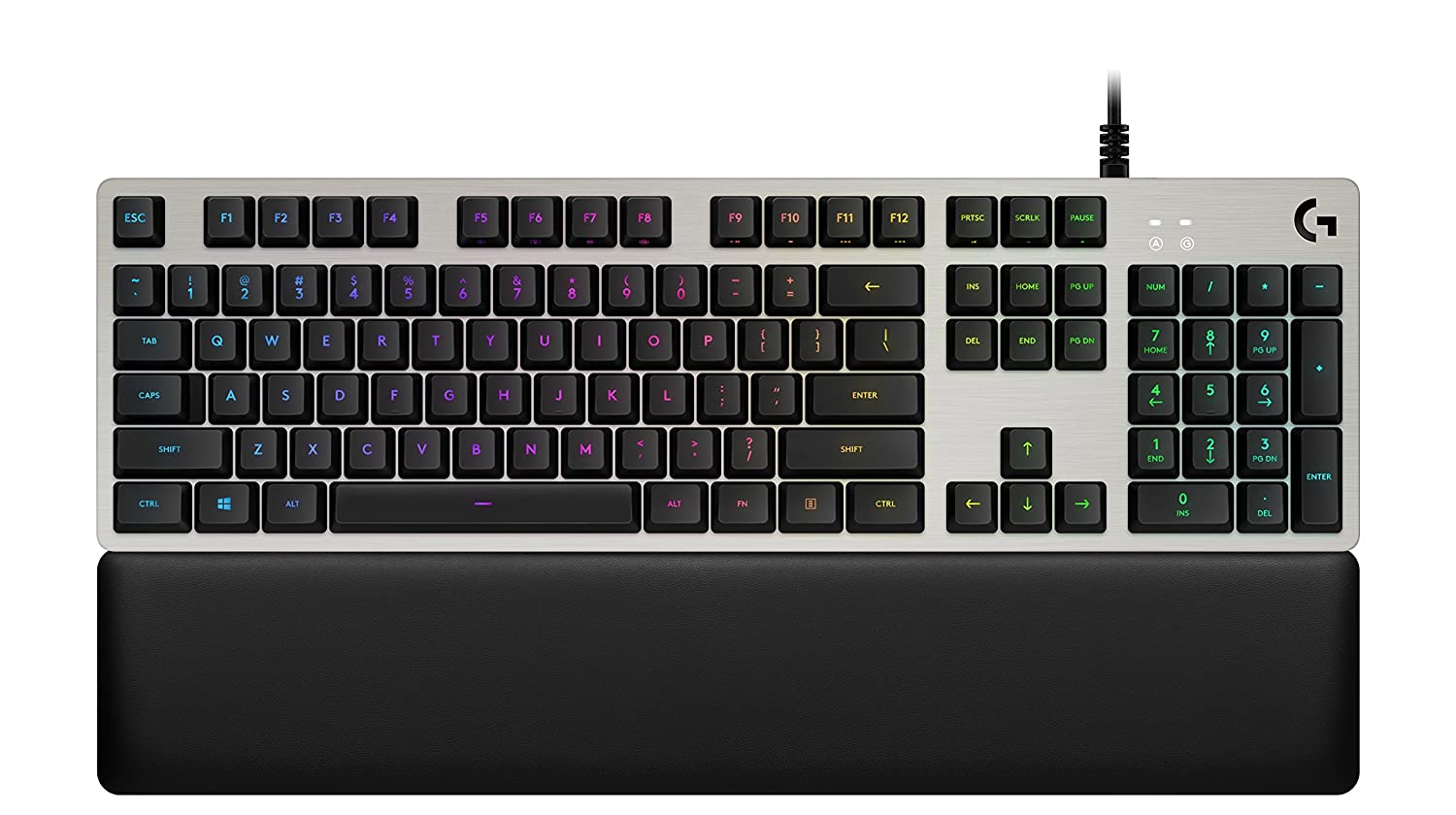 Logitech G513 RGB Backlit Mechanical Gaming Keyboard with Romer-G Linear Keyswitches, Carbon (920-008848)