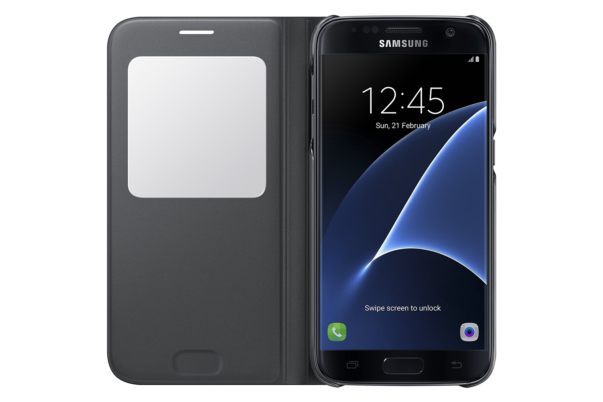 Samsung Galaxy S7 Case S-View Flip Cover - Black by Samsung (Image #3)