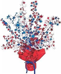 Star Gleam 'N Burst Centerpiece (red, white, blue) Party Accessory(1 count) (1/Pkg)
