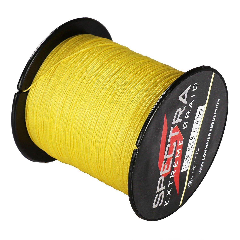 geflochten Gelb Spectra Extreme 6-300LB Angelschnur 100-2000/m
