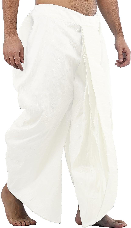 Maenner-Dhoti-Dupion-Silk-Plain-handgefertigt-fuer-Pooja-Casual-Hochzeit-Wear Indexbild 31