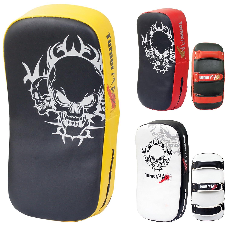 TurnerMAXタイキックパンチStrike BoxingパッドCurved Arm Shield MMA UFCトレーニング格闘技タイ式イエローブラック(シングルItem)