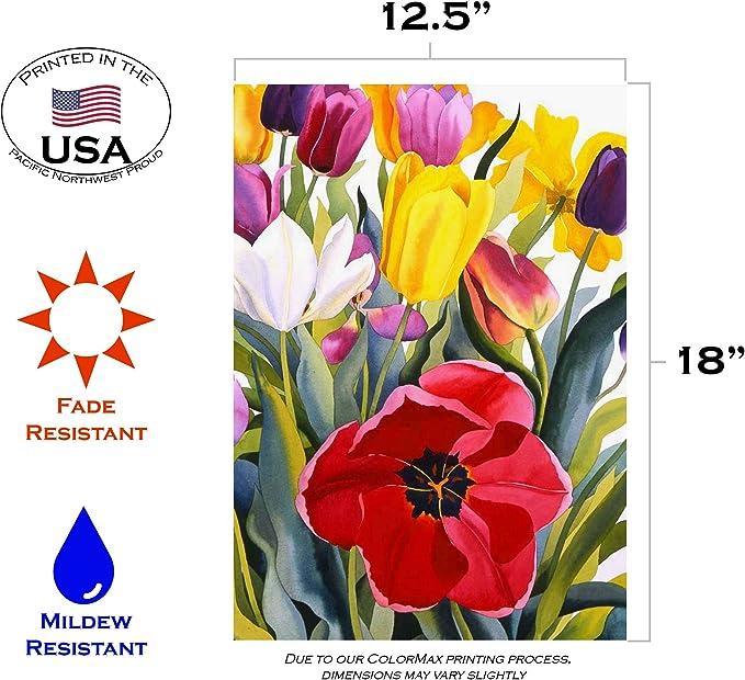 Amazon Com Toland Home Garden 119601 Tulip Garden 12 5 X 18 Inch Decorative Flag 12 5 X 18 Outdoor Flags Garden Outdoor