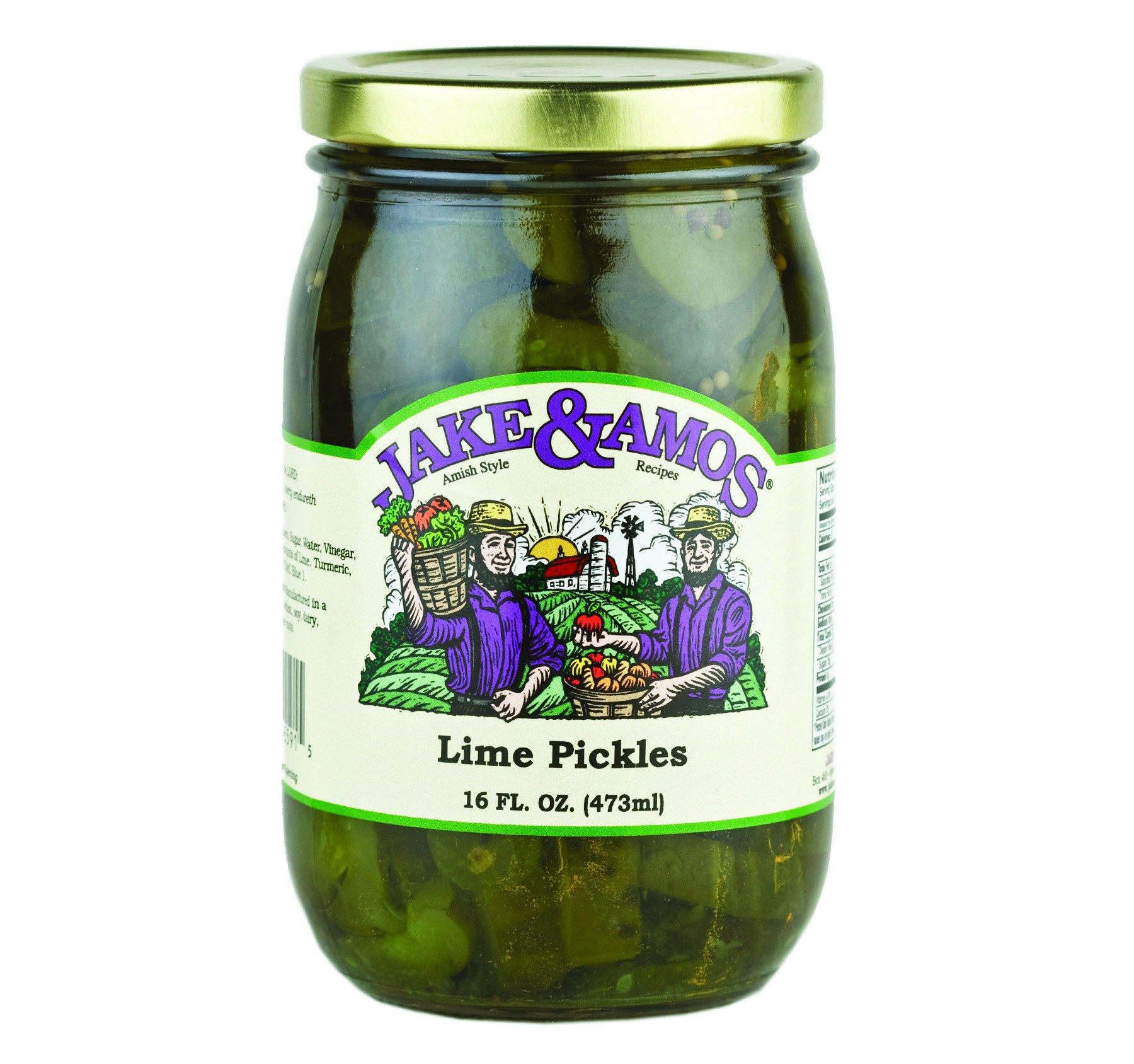 Jake & Amos Lime Pickles 16 oz. Jar (2 Jars)