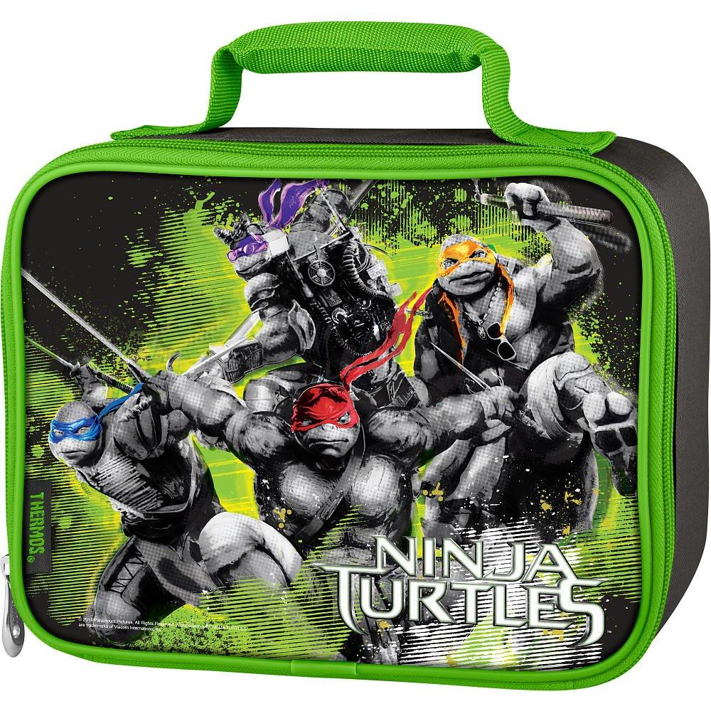Ninja Turtles Insulated Thermos Lunch Kit Tote 2014 Movie