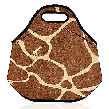 aa083fd39b61 ZMvise Giraffe Lunch Bag Picnic Tote Box Portable Outdoor Neoprene ...