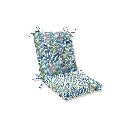 Amazon Com Pillow Perfect Indoor Outdoor Make It Rain Cerulean