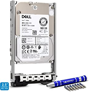 Dell 400-APGL 900GB 15K SAS 12Gb/s 2.5-Inch PowerEdge Enterprise Hard Drive in 13G Tray Bundle with Compatily Screwdriver Compatible with 400-APGB R630 R730 PowerVault MD1420