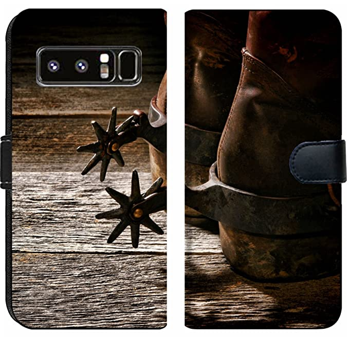 fc8d84b66f9 Amazon.com: Luxlady Samsung Galaxy Note 8 Flip Fabric Wallet Case ...