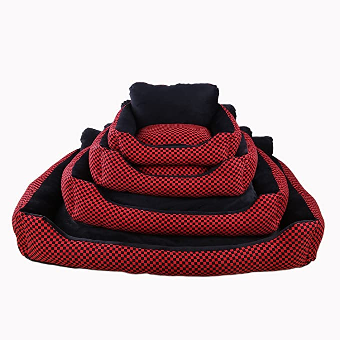 Amazon.com : YOIOY Comfortable Winter Pet Cushion Sofa Kennel Waterproof Dog Pet Cat Bed Mat Cushion Washable Ultra-Soft Plush Fabric Soft Cover Black with ...