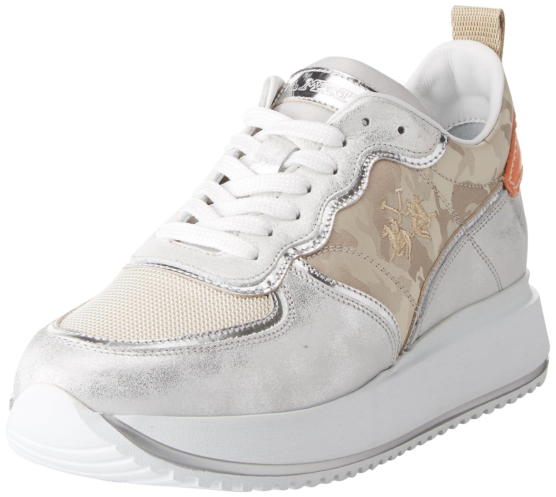 La Martina Sneaker, Zapatillas para Mujer 39 EU|Beige (Beige 230)
