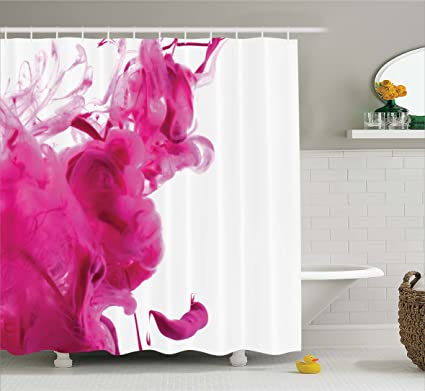 Astonishing Ambesonne Magenta Decor Shower Curtain By Color Splash Pastel Colored Hazy Flame Like Watercolor Show Style Fabric Bathroom Decor Set With Hooks 70 Complete Home Design Collection Barbaintelli Responsecom