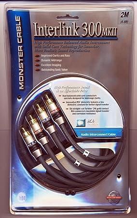 Monster Cable Interlink 300 MKII alta Perfomance estéreo RCA Audio Cables de interconexión 2 m 6.6