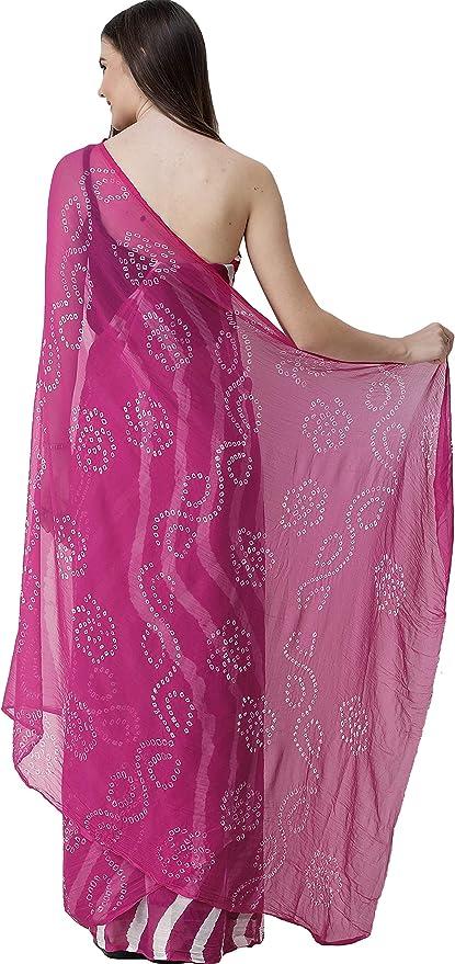 Exotic India Leheriya Sari de Jaipur con el tinte de lazo ...