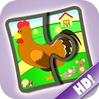 Rompecabezas de granja 123 - Divertido juego educativo para niños
