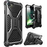 iPhone 7 Case, i-Blason Transformer [Kickstand] Apple iPhone 7 2016 Release [Heavy Duty] [Dual Layer] Combo Holster Cover case with [Locking Belt Swivel Clip] (Black)