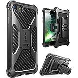 iPhone 8 Hülle, i-Blason [Transformer] Outdoor Schutzhülle Dual Layer Handyhülle Ganzkörper Schale Case mit Gürtelclip und Ständer Kompatibel mit Apple iPhone 7 / iPhone 8 (Schwarz)
