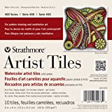 """Strathmore 400 Series Watercolor Cold Press, Glue Bound (Top) Artist Tiles, 6"""" X 6"""" - 10 Pack"""