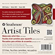 "Strathmore (105-973 400 Series Watercolor Artist Tiles, Cold Press, 6""x6"", 10 Sheets"
