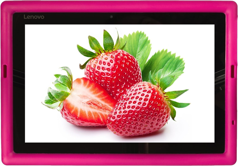 Bobj Rugged Case for Lenovo IdeaPad Miix 310 - BobjGear Custom Fit - Patented Venting - Sound Amplification - BobjBounces Kid Friendly (Rockin' Raspberry)