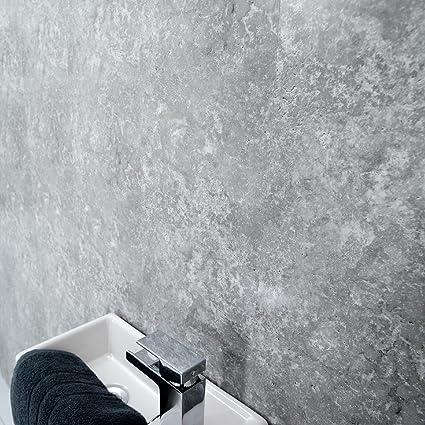 Grey Panels Splashbacks Grey Cladding-PVC-for Bathroom Shower Cladding Wall  Panels Splashbacks-Ceiling Panels Splashbacks- Grey Concrete-100%